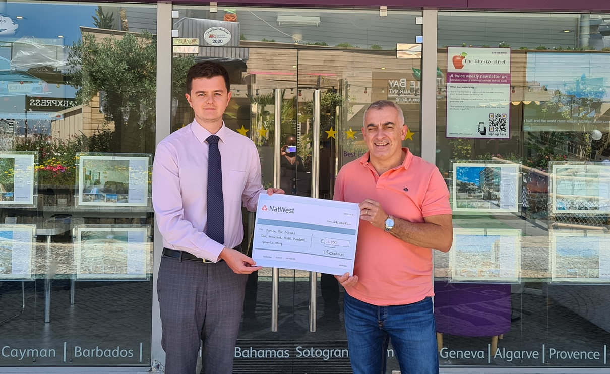 A huge thank you goes out to Chestertons Estate Agents for their very generous donation of £1300 which will be put towards our roof appeal.