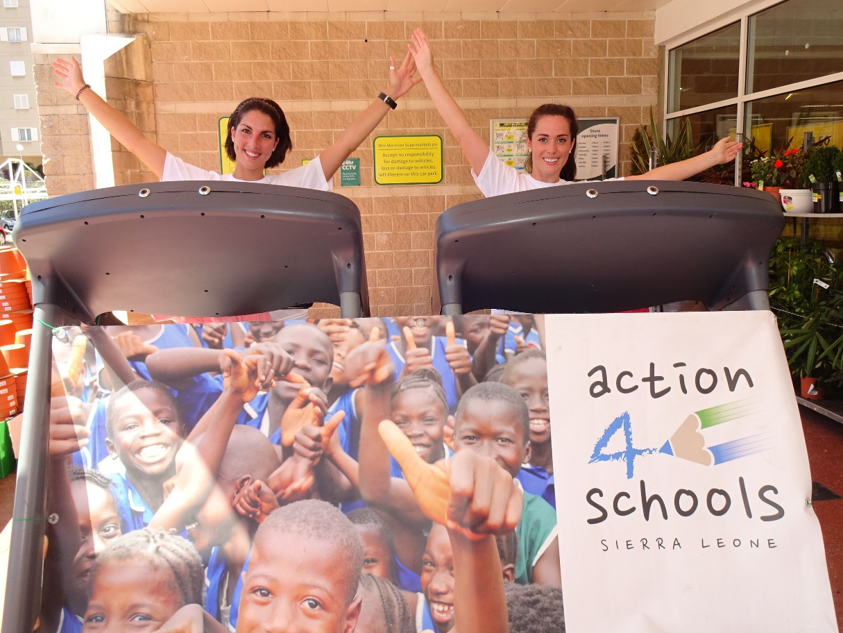 "Shyanne Azzopardi & Claire Nunez supporting ""action4schools"" again this year!"