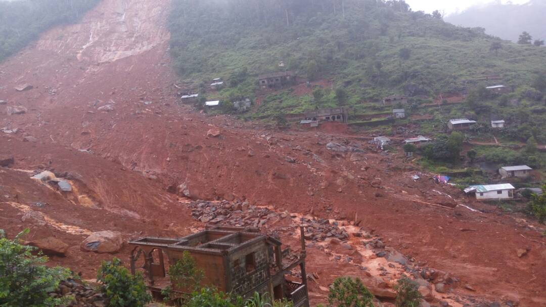 A huge landslide of mud  and rocks crashed through the village of Regent in the outskirts of Freetown in the early hours of Monday 14th August killing hundreds whilst they slept.  Many of those that survived lost everything, their homes and their family... a terrible tragedy for the community at large.