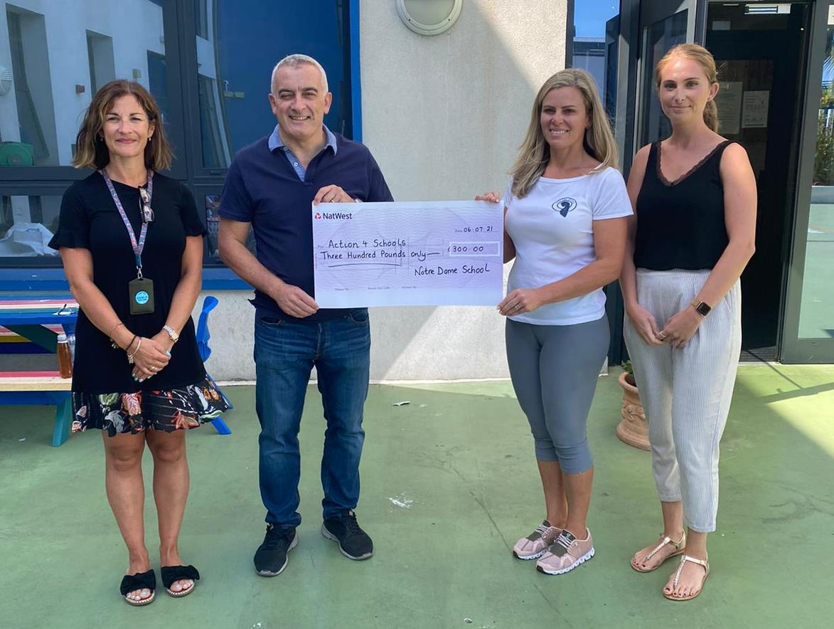 Notre Dame School raised £300 for our water projects - July 2021 - Thank you !