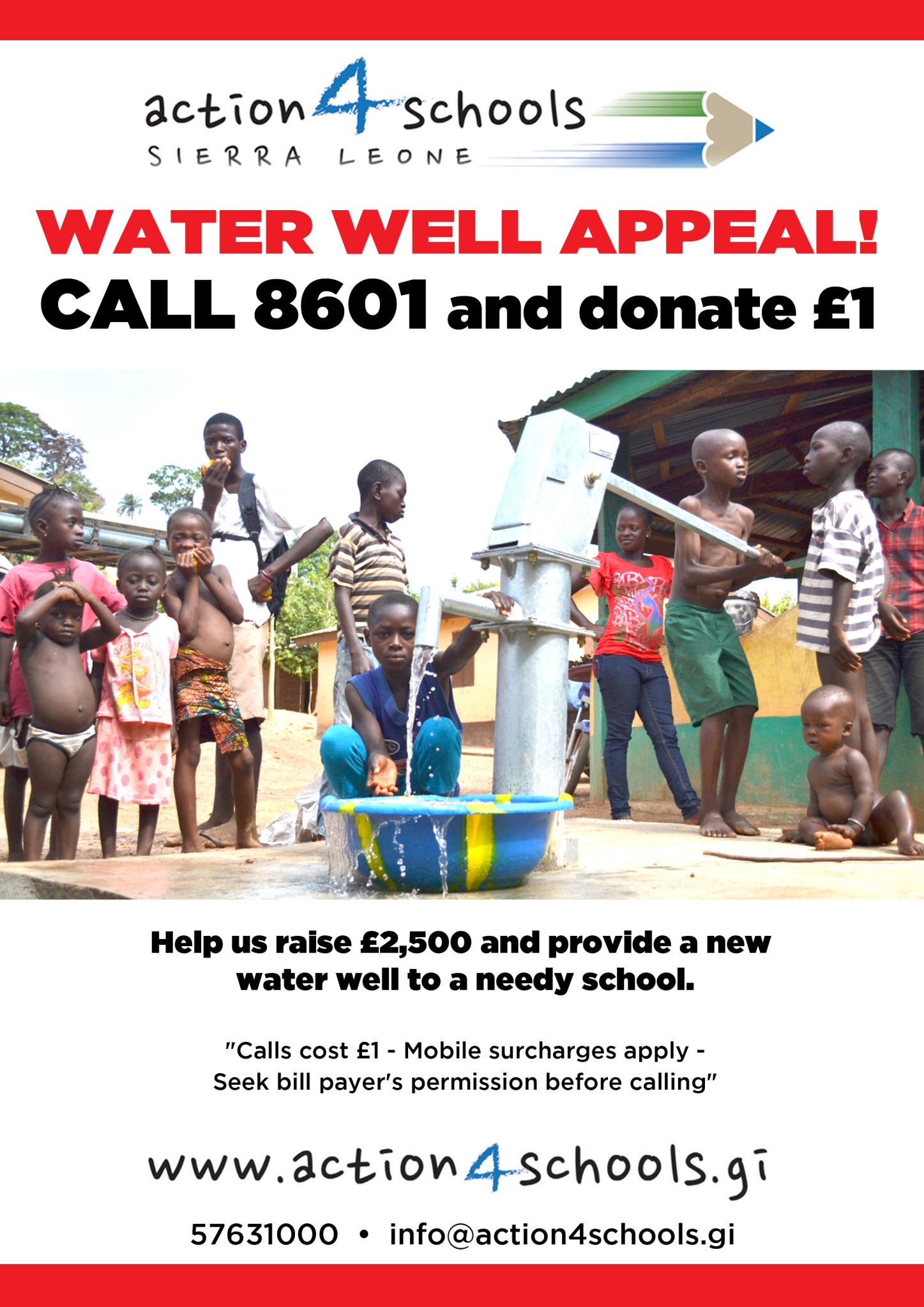 WATER WELL APPEAL 8601 -£2500