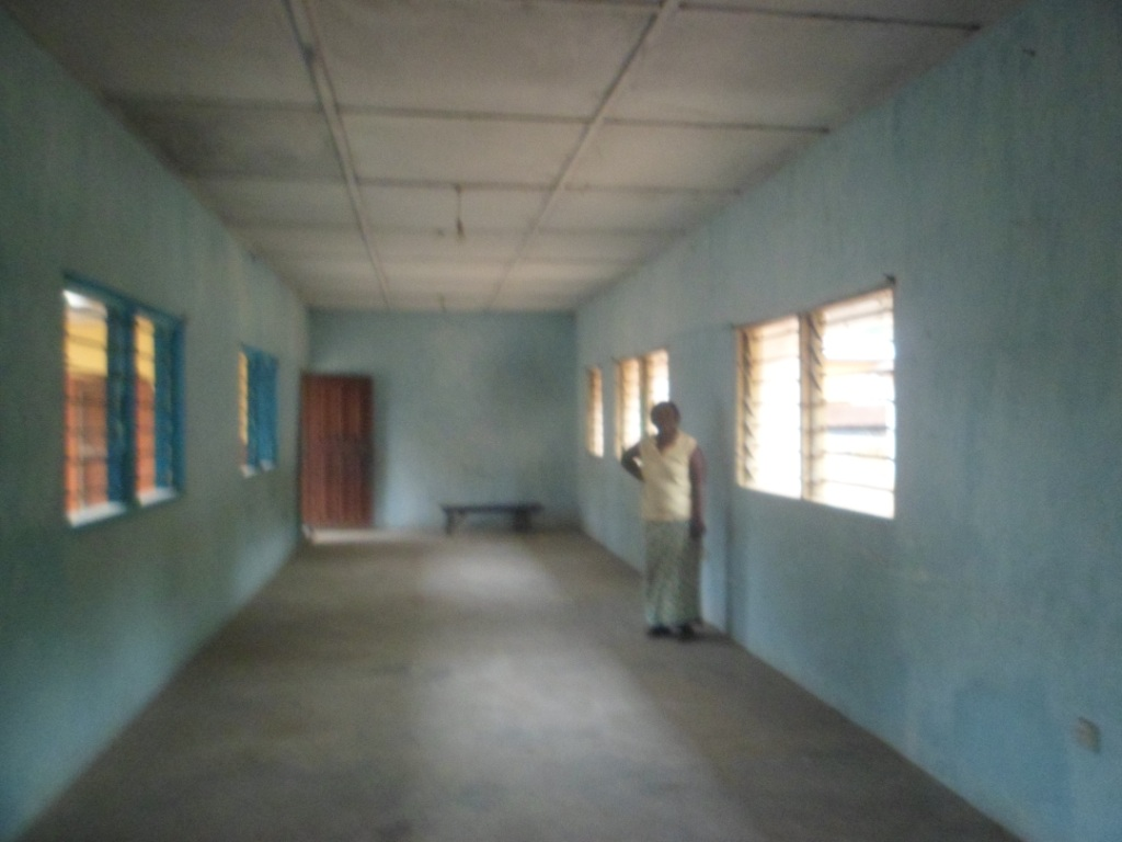 Inside of classroom before refublishment