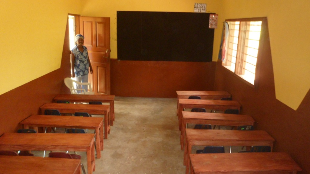 Newly rehabilitated class room for Rural Community Education Nursery School