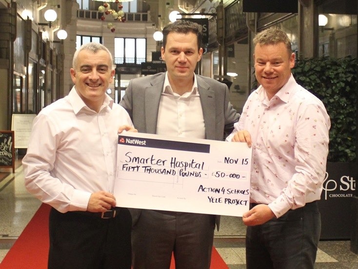 £50000 Donation Cheque to Smarter Hospital WEBSITE