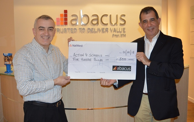 Abacus £500 Donation - Chronicle - Copy