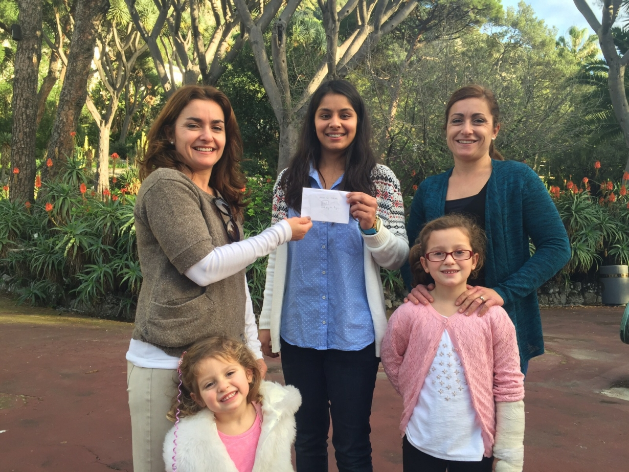 Meenal Cheque Presentation December 2015