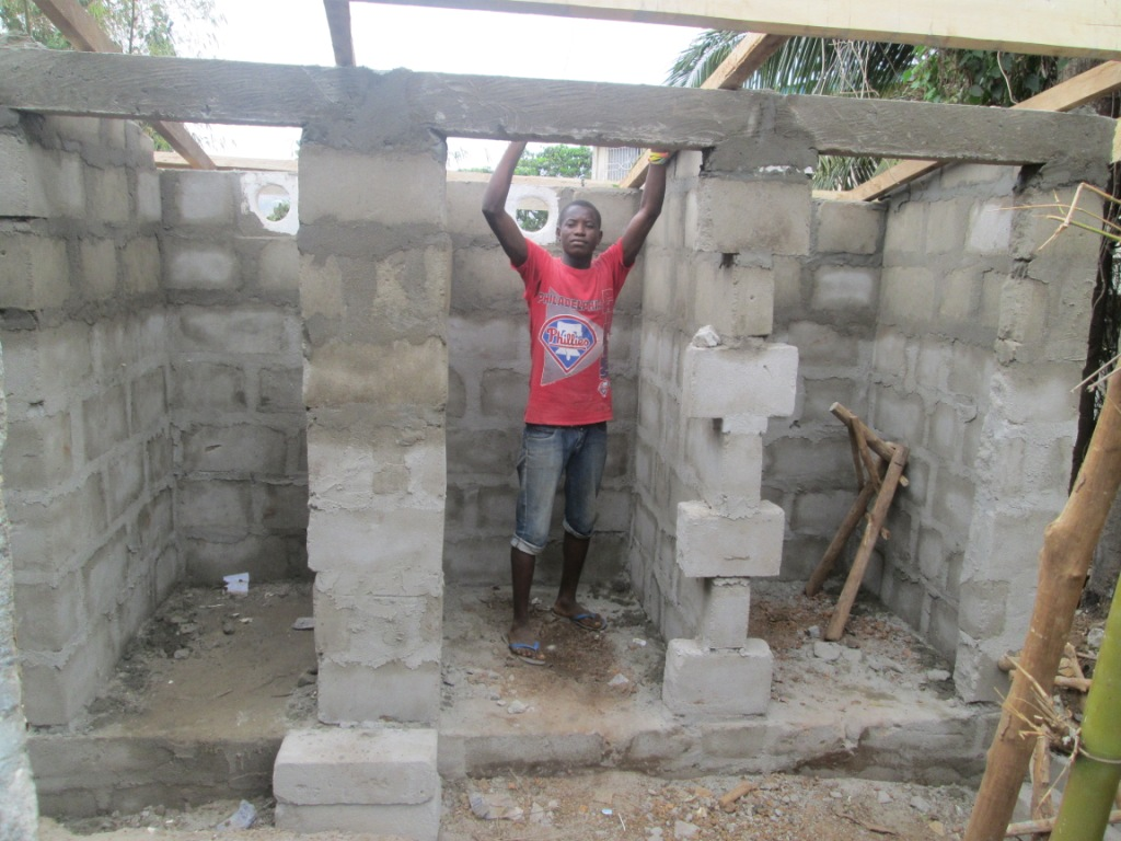 Roffing of latrine comence at lady Particia Preparatory School