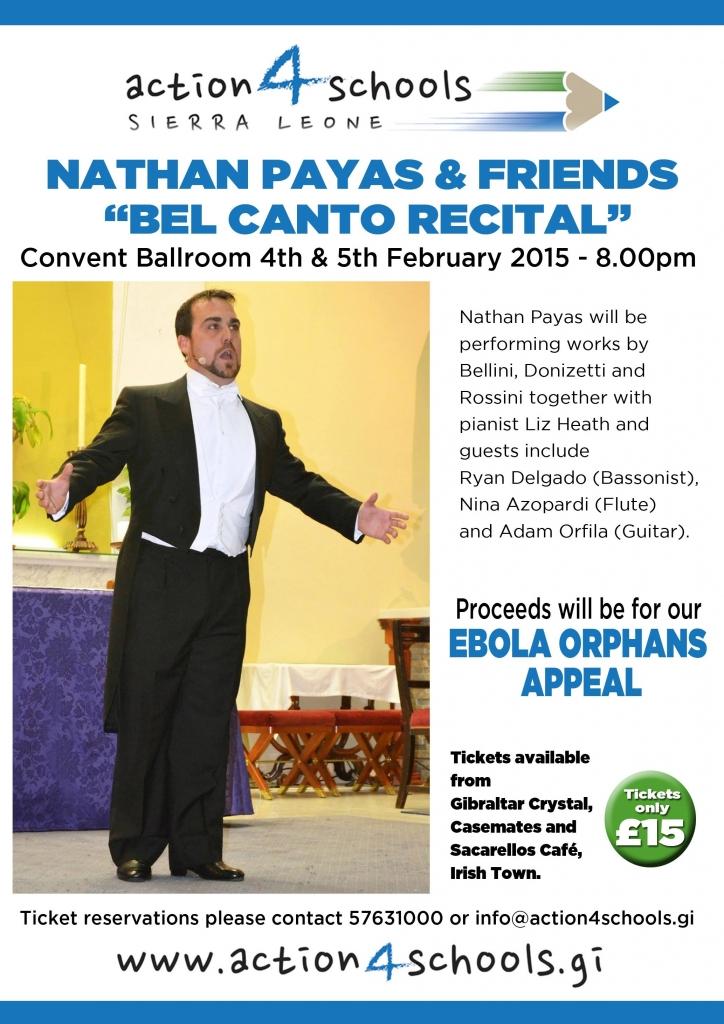 Nathan Payas Bel Canto Recital Poster