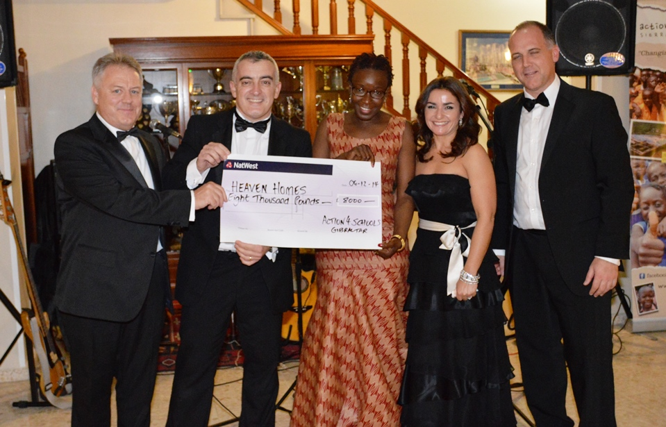 £8000 Cheque Presentation Dinner Dance