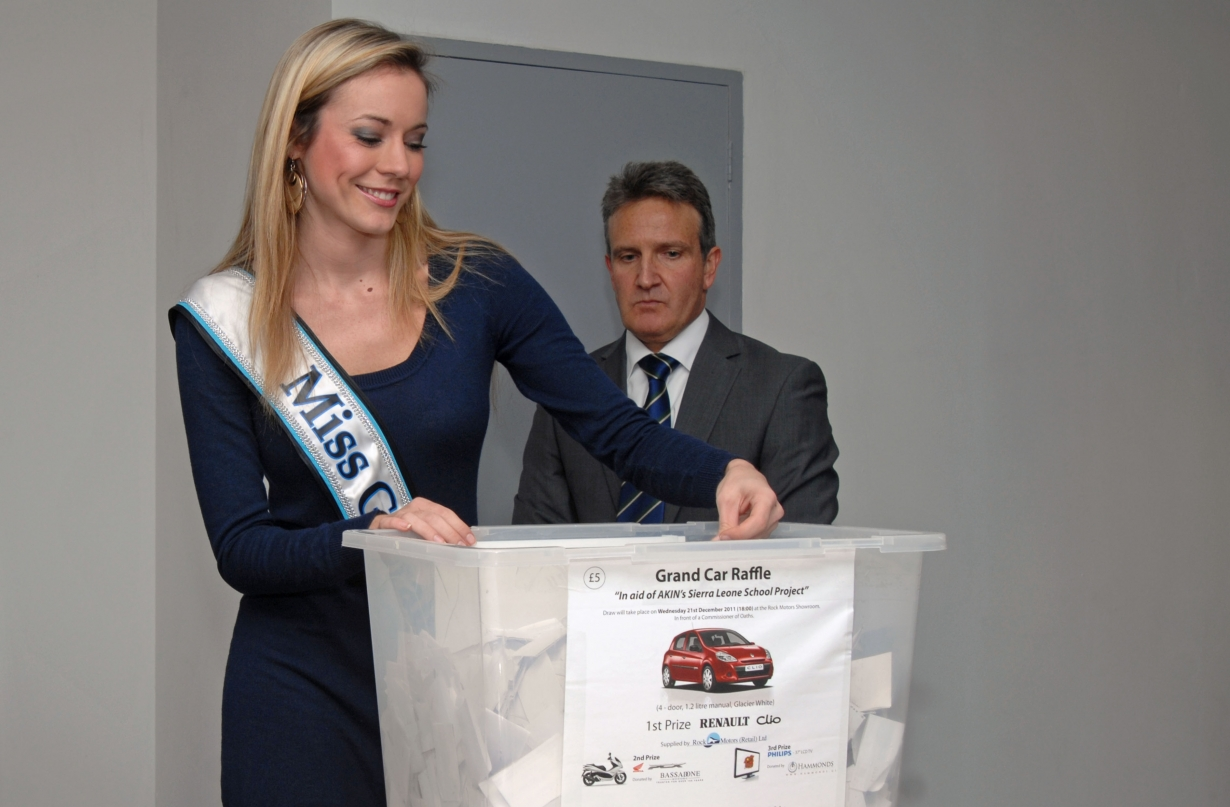 Miss Gib with Commissioner for Oaths Albert Codali