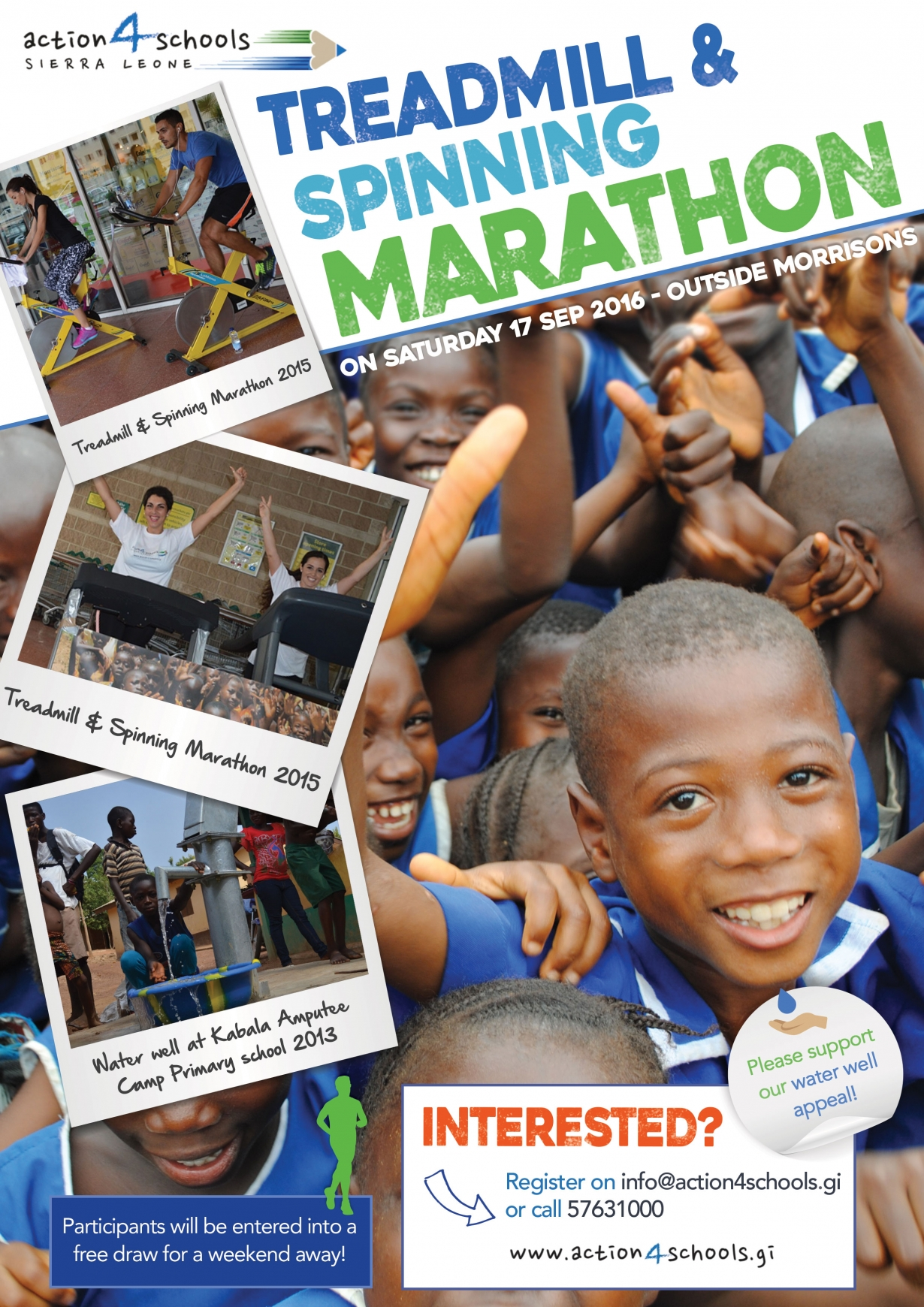 Treadmill Event Action4schools Poster