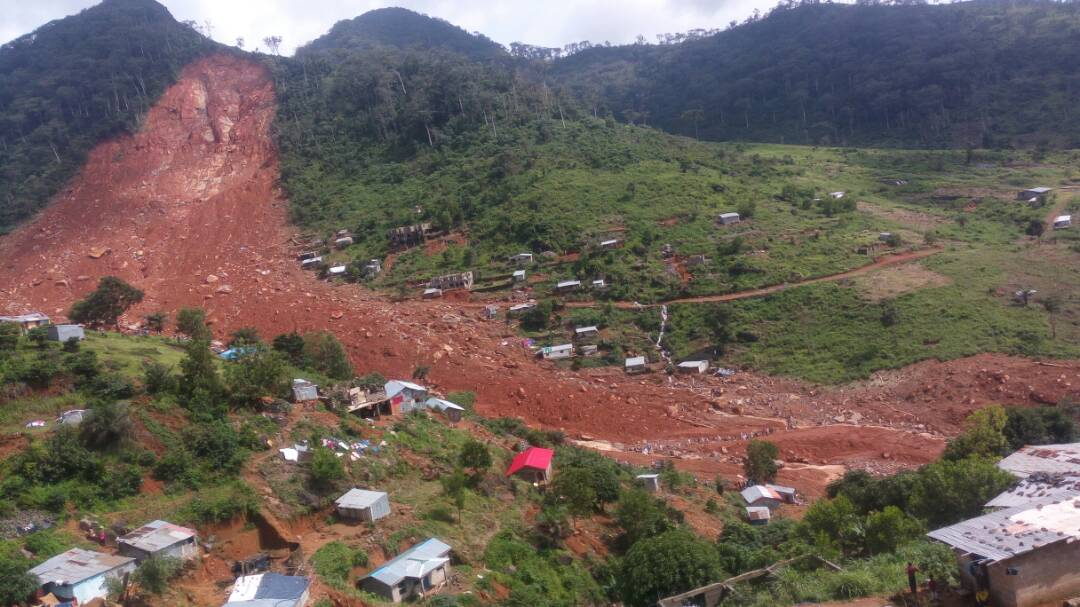 People who were caught in the path of the landslide did not stand a chance