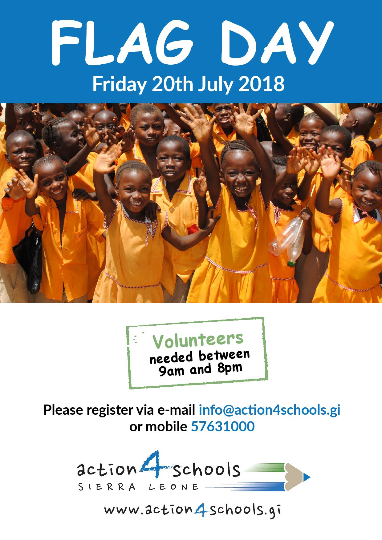 action4schools-flag-day 20th July 2018