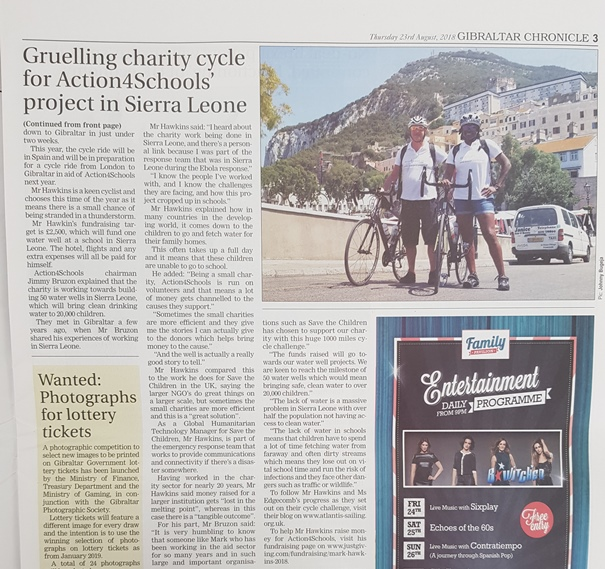 Page 3 Gibraltar Chronicle 23rd September 2018