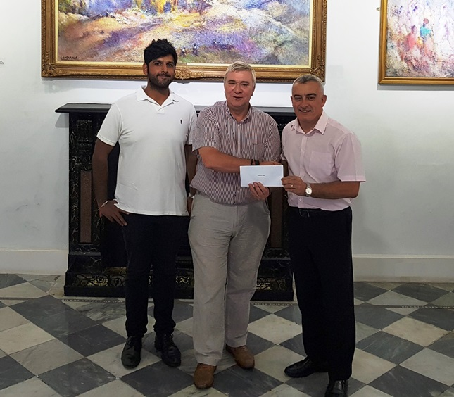 Manoj Gulraj (Director Ramsons) Hon. Minister Linares and Jimmy Bruzon (Chairman) to the right. Great support from Ramsons and HM Government - thank you!