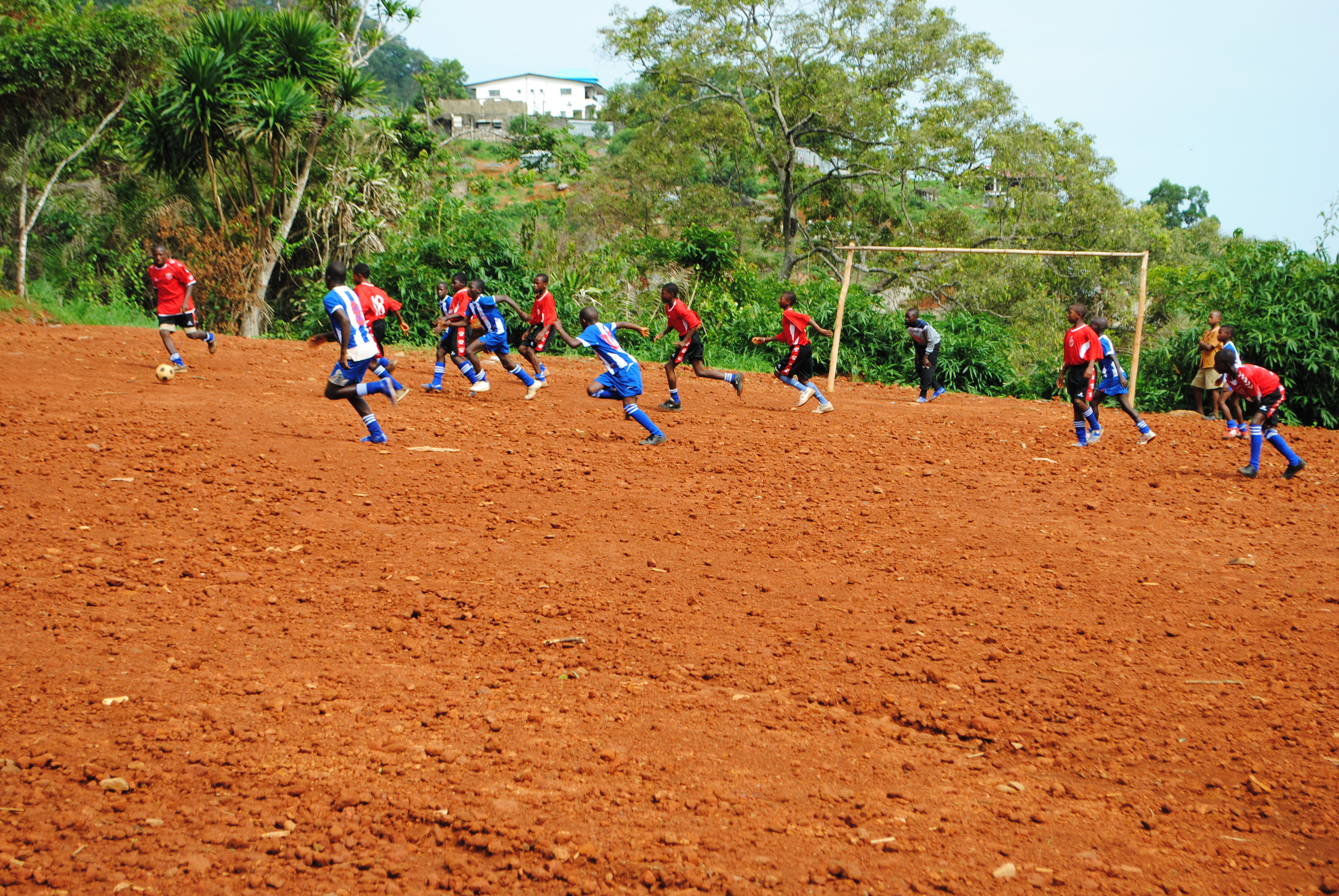 May 2012 - Action4schools team visited REC Primary and played a friendly match in the rugged field.